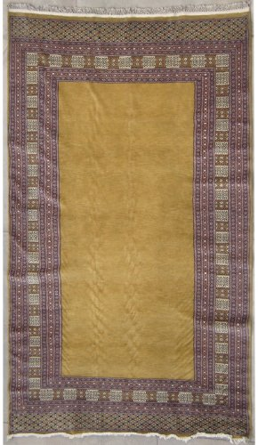5'8 x 7'5 Pak Persian Plain Area Rug with Wool Pile - | Category 6x7 Rug | Handmade Bokhara Jaldar Rugs