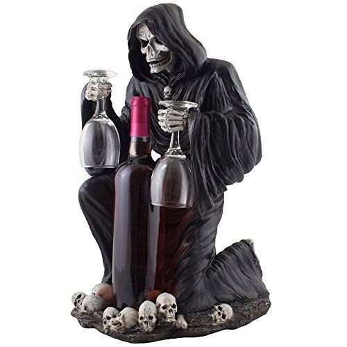 Grim reaper wine glass holder and bottle display ideas for Glass bottle display ideas