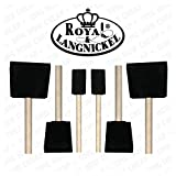 Royal and Langnickel 6 Art Foam Brush Set 2 x 1 inch 2 x 2 inch and 2 x 3 inch