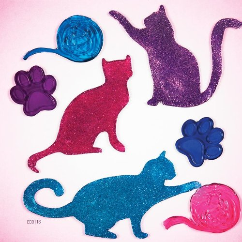 GelGems Glitter Cats Small Bag Gel Clings - 1