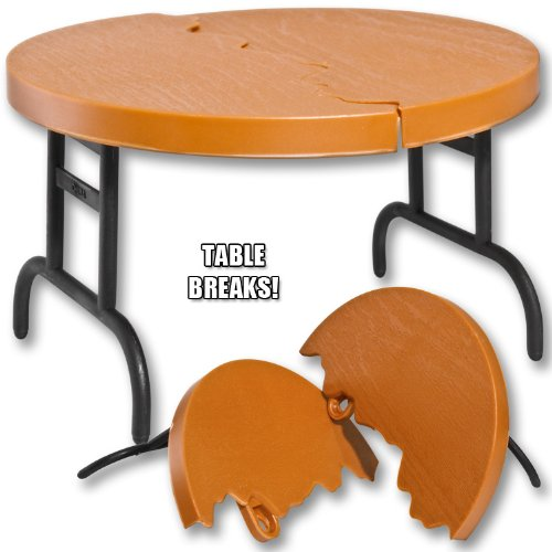 Wood-Color-Break-Away-Round-Table-for-Wrestling-Action-Figures