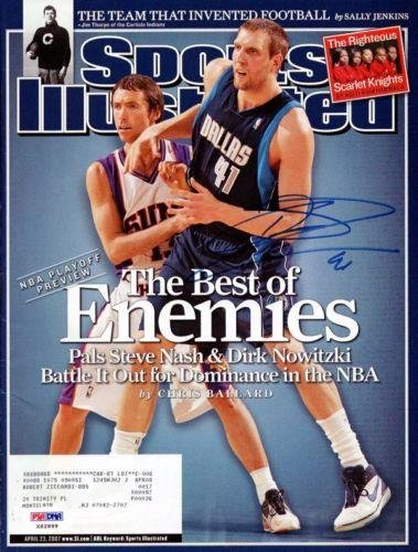 Dirk Nowitzki Autographed Signed Si Magazine Dallas Mavericks #X62899 - Psa/Dna Certified - Autographed Nba Magazines