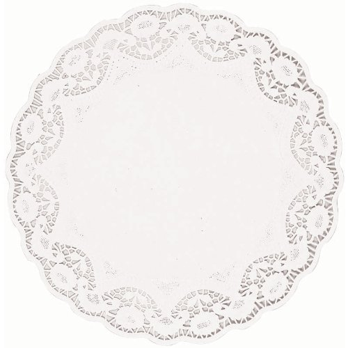 White 16 1/2in Round Doilies 4ct