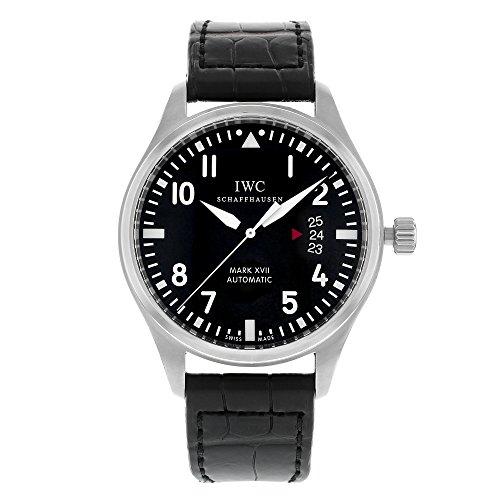 iwc-mark-xvii-homme-41mm-automatique-noir-cuir-bracelet-date-montre-iw326501