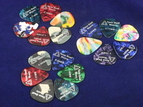 Tone Deaf Music Celluloid Guitar Picks/Plectrums
