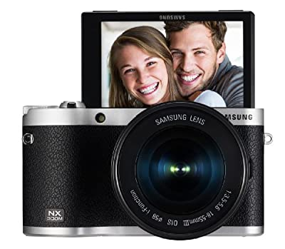 "Samsung NX300M 20.3MP CMOS Smart WiFi & NFC Mirrorless Digital Camera with 18-55mm Lens and 3.3"" AMOLED Touch Screen from Samsung IT"