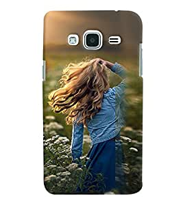 Printvisa Girl Admiring Sunshine Back Case Cover for Samsung Galaxy J3 (2016)::Samsung Galaxy J3 (2016) Duos with dual-SIM card slots