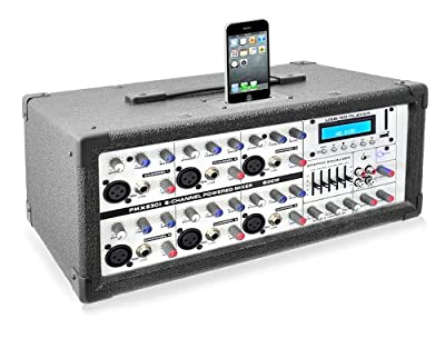 PYLE-PRO PMX630I 6-Channel 600W Professional Mixer with iPod Dock, MP3 Player Input, SD and USB Flash Readers