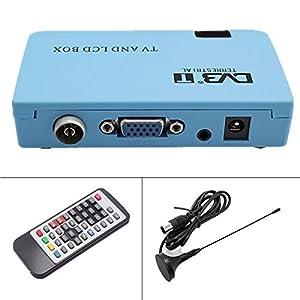 ADAALEN Tv box numérique LCD / CRT vga / av tuner récepteur DVB-T TNT