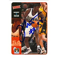 Robert Traylor Autographed Hand Signed Basketball Card (Milwaukee Bucks) 2000 Upper... by Hall of Fame Memorabilia