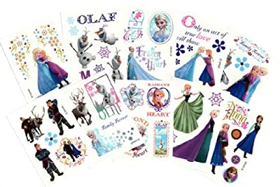 Disney Frozen Temporary Tattoos (Set of 10 Sheets)(Includes Princess Anna, Queen Elsa, Olaf, Kristoff and Sven) by VSi