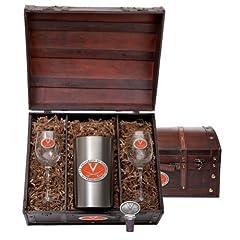 Virginia Cavaliers Team Logo Wine Gift Set by Heritage Metalwork