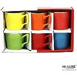 Hi Luxe Rainbow Tea/Coffee Mug Set Of 6 Pcs