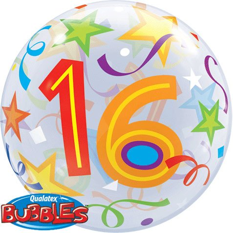 16th Birthday 22-inch Bubble Balloon