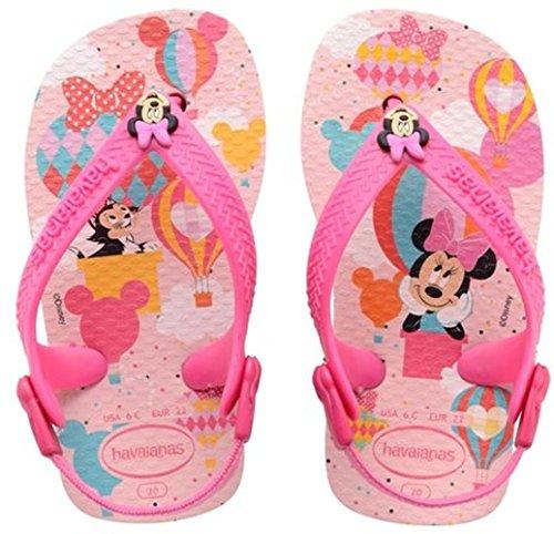 Havaianas Mickey Minnie Sandali senza Tacco per Bambini, Colore Rosa (Crystal Rose 1141), Taglia 19/20 EU (Taglia Produttore: 17/18)