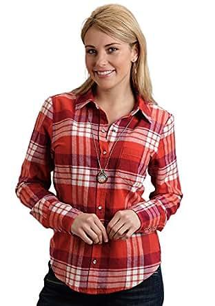 Orange Plaid Shirt At Amazon Women S Clothing Store