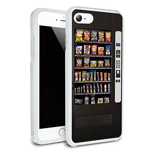 Snacks Chips Candy Vending Machine Protective Slim Hybrid Rubber Bumper Case for Apple iPhone 7 or iPhone 7+ Plus - iPhone 7 (NOT Plus model) (Phone Charging Vending Machine compare prices)