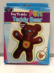 Sew easy childrens sewing knitting craft art set make your for Make your own teddy bear template