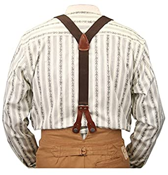 Victorian Men's Clothing Stagecoach Y-Back Suspenders $27.95 AT vintagedancer.com