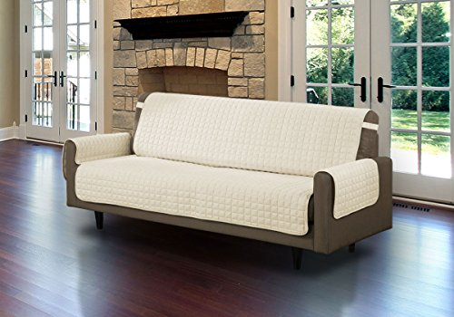 Quilted Microfiber Pet Dog Couch Sofa Furniture Protector Cover (Beige, Sofa) (Dog Couch Cover compare prices)