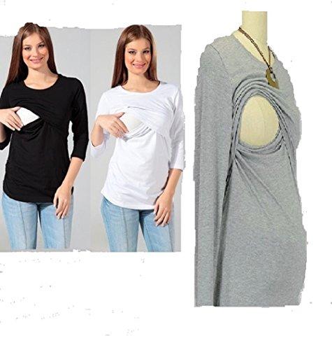 Stilltop Mutterschaft Hemd schwarz Größen Klein 36-38