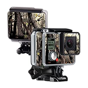 Mightyskins Protective Vinyl Skin Decal Cover for GoPro Hero Camera Digital Camcorder wrap sticker skins Tree Camo
