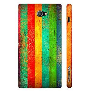 Sony Xperia M2 Don'T Cross The Line designer mobile hard shell case by Enthopia