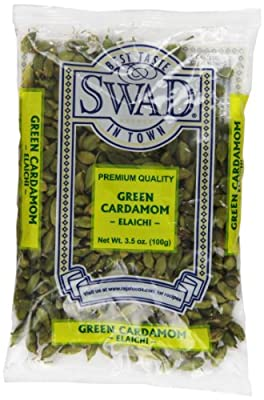 Swad Cardamom Indian Grocery Spice, Pods Green, 3.5 Ounce from Swad