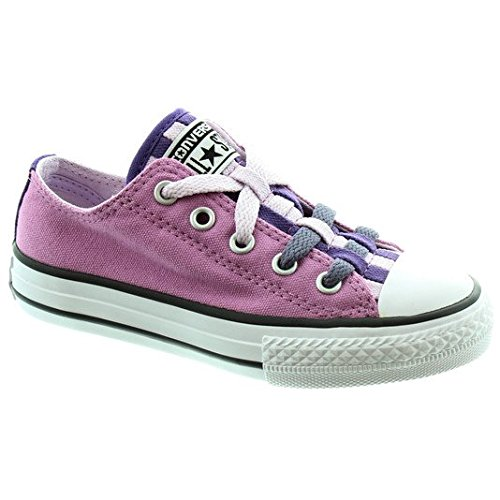 Converse unisex-child Star Player Ev 3 V Bianco Basso Sneaker, viola (Lilac), 30