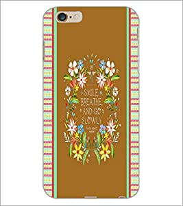PrintDhaba Quote D-4245 Back Case Cover for APPLE IPHONE 6S (Multi-Coloured)