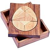 Tangram 'Ei' - Legespiel - Denkspiel - Knobelspiel - Geduldspiel aus Holz