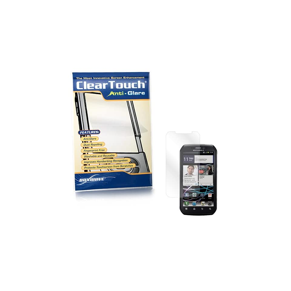 BoxWave Motorola Photon 4G ClearTouch Anti Glare Screen Protector   Premium Quality Anti Glare, Anti Fingerprint Matte Film Skin to Shield Against Scratches (Includes Lint Free Cleaning Cloth and Applicator Card)   Motorola Photon 4G Screen Guards