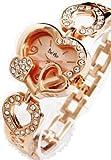 【ピンクゴールド】レディース トリプルハート腕時計 女性用腕時計 クォーツ式