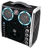 Singing Machine SML-383 Tragbarer CDG Karaoke-Player und 3 CD+Gs Party Packet - Schwarz