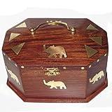 Wood Jewelry Box Brass Inlay Work Handmade Unique Giftsby DakshCraft