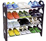 Unique Gadget 12 Pair Stackable Shoe Rack Storage 4 Layer