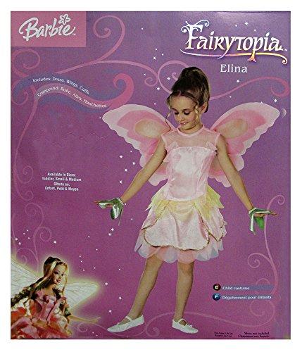 [Rubie's Girls 'Barbie Fairytopia Elina' Halloween Costume, Pink, M] (Fairytopia Barbie Costume)