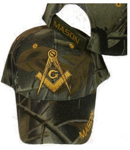 Freemason Camo Embroidered Adjustable Hat Mason Masonic Lodge Camouflage Baseball Cap