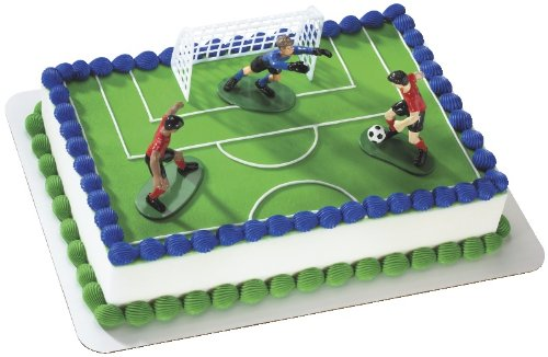 Soccer- Kick Off Boys DecoSet Cake Decoration (Birthday Cake Pans For Kids compare prices)