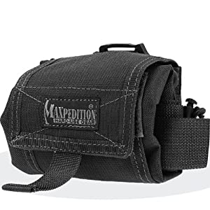 Maxpedition Mega Rollypoly Folding Dump Pouch (Black)