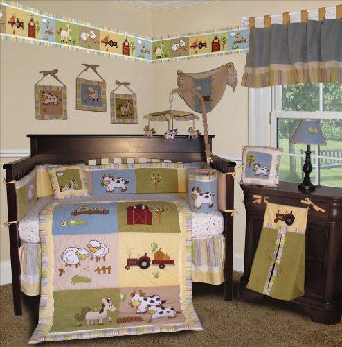 Stunning SISI Baby Boy Boutique On the Farm PCS Crib Bedding