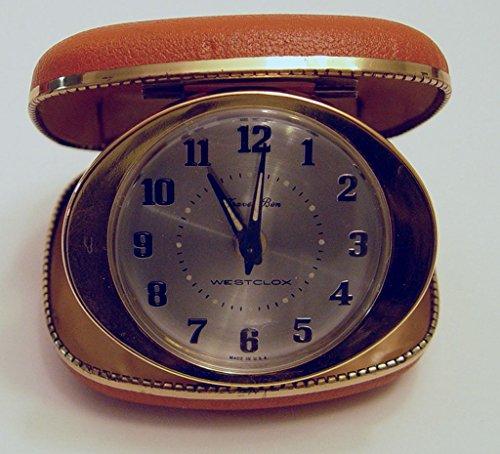 Vintage Westclox Travel Ben Alarm Clock in Travel Case