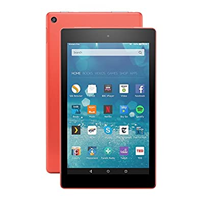 """All-New Fire HD 8 Tablet, 8"""" HD Display, Wi-Fi, 16 GB (Tangerine) - Includes Special Offers"""