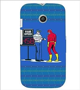 PrintDhaba Funny Image D-4460 Back Case Cover for MOTOROLA MOTO E (Multi-Coloured)