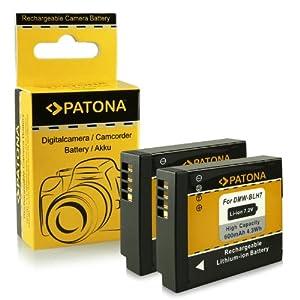 2x Batterie DMW-BLH7 / DMW-BLH7E pour Panasonic Lumix DMC-GM1 [Li-Ion - 600mAh - 7.2V]