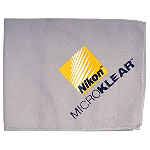 Nikon MicroKlear Microfiber Cleaning Cloth for D4, D800, D7000, D5100, D5000, D3200, D3100, D300s Digital SLR Cameras
