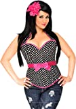 Daisy Corsets Rockabilly Belted Halter Corset Top - Black