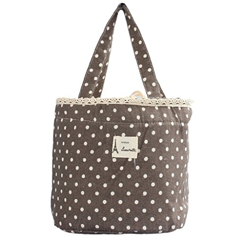 Rukiwa Thermal Insulated Lunch Box Tote Cooler Bag Bento Pouch Lunch Container (Coffee) (Coffee Cooler compare prices)