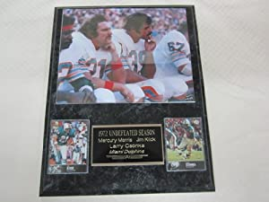 Miami Dolphins 1972 Undefeated Season 2 Card Collector Plaque w 8x10 Photo by J & C Baseball Clubhouse