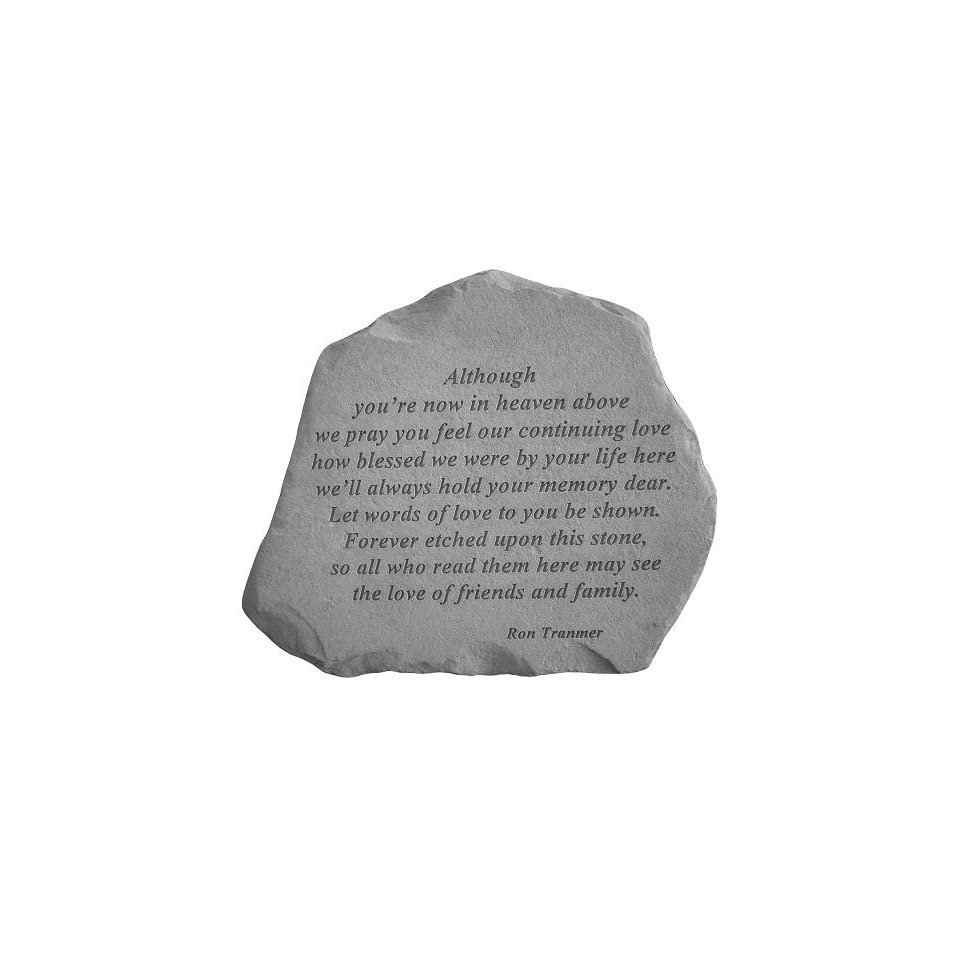 KayBerry Although Youre Now In Heaven Memorial Stone Marker Garden Accents